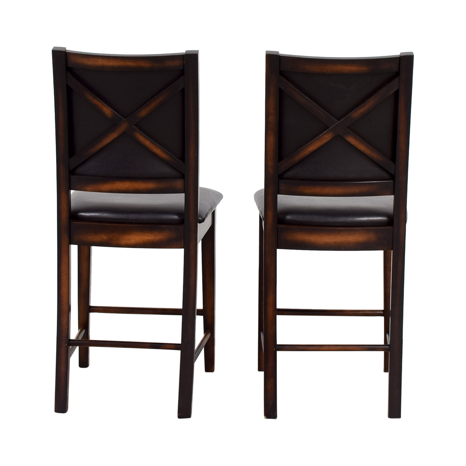Brown Leather Counter Stools discount