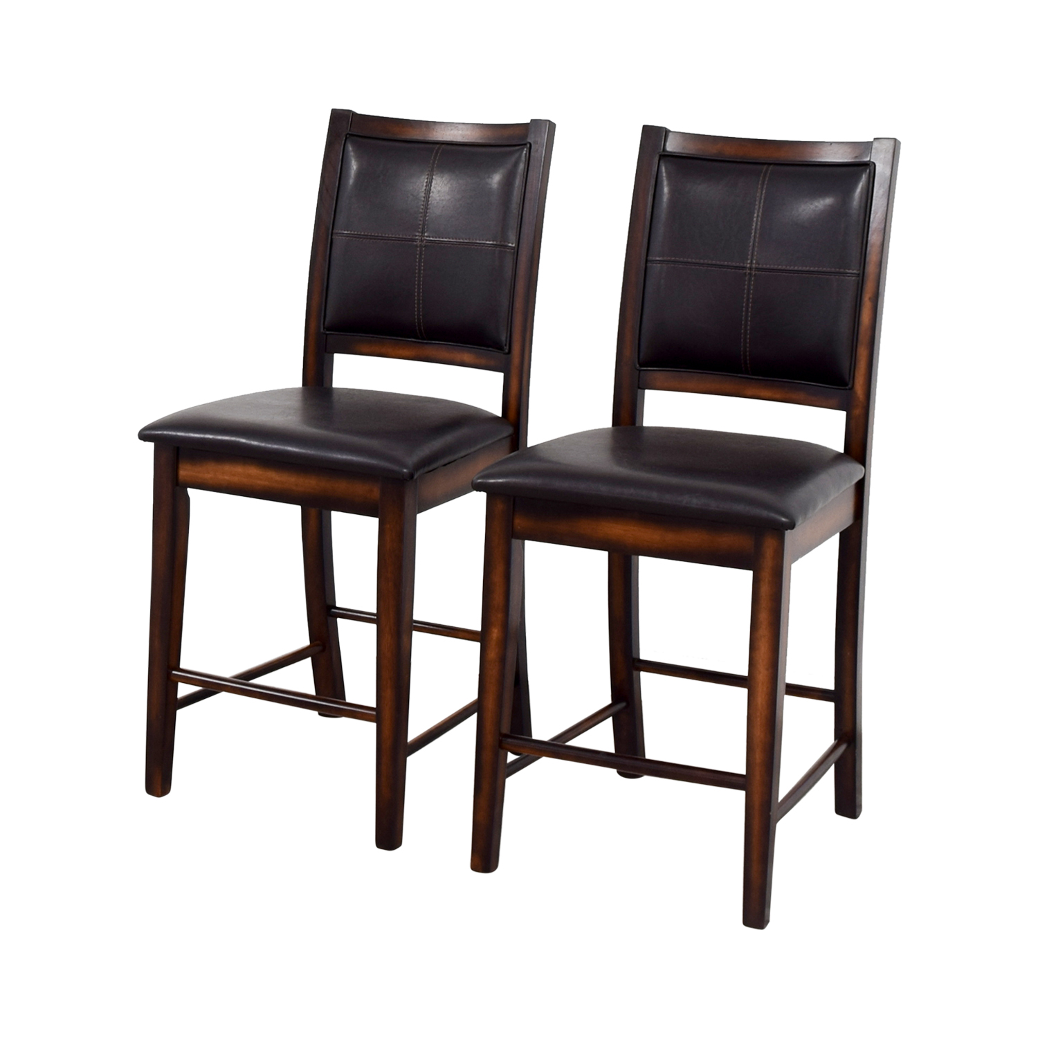 Brown Leather Counter Stools Dark Chocolate
