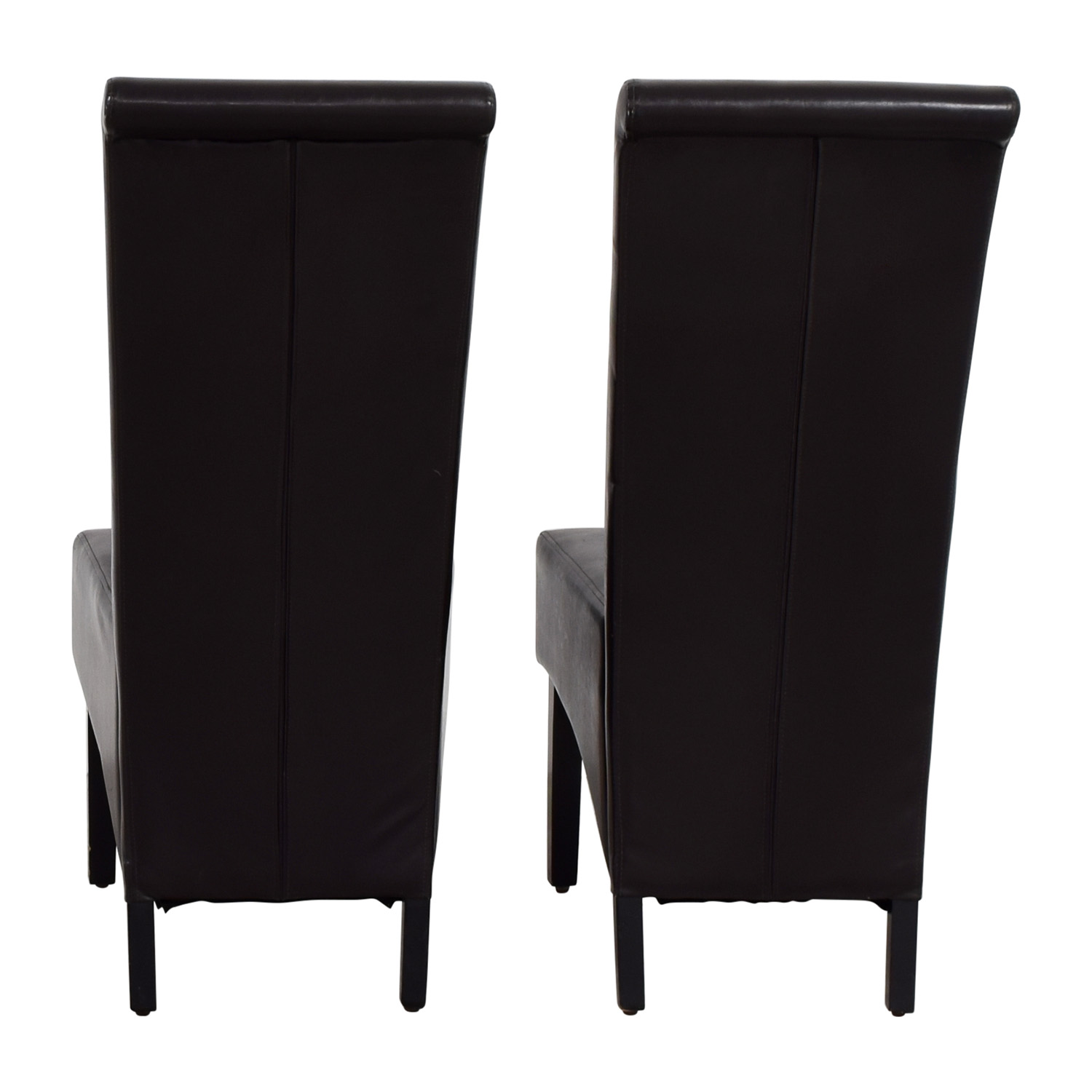 shop Padded Brown Leatherette High Back Dining Chairs online
