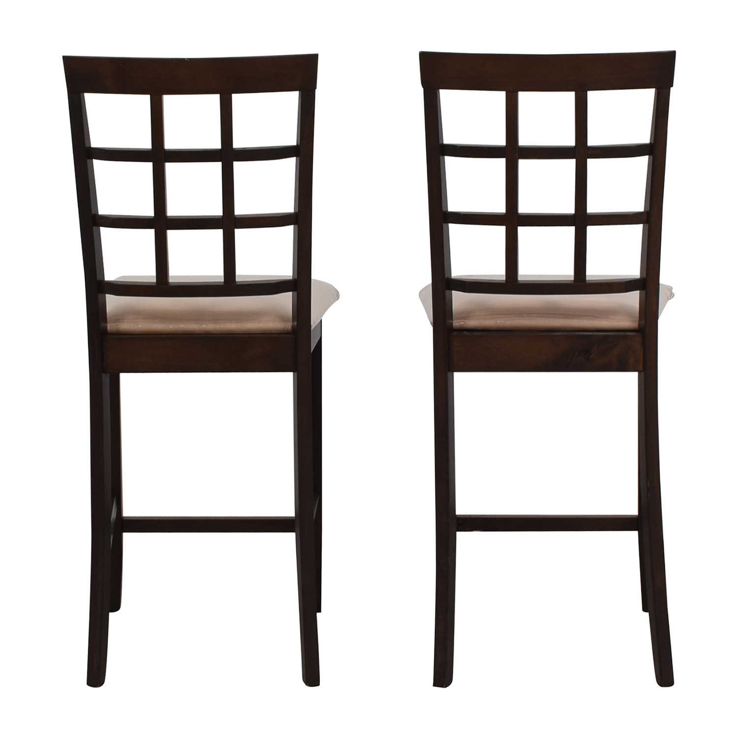 Cappuccino Counter Height Chairs BROWN