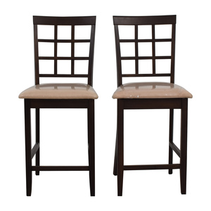 Cappuccino Counter Height Chairs dimensions