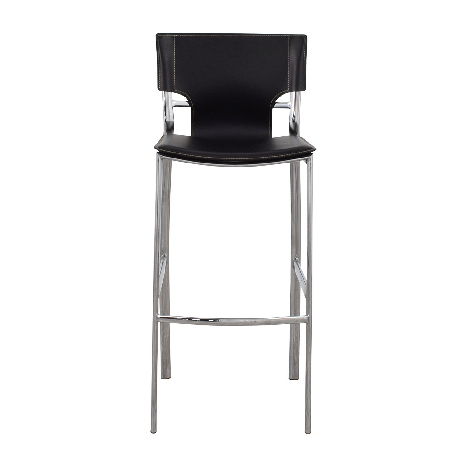 shop Modern Black Leatherette and Chrome Bar Chair online