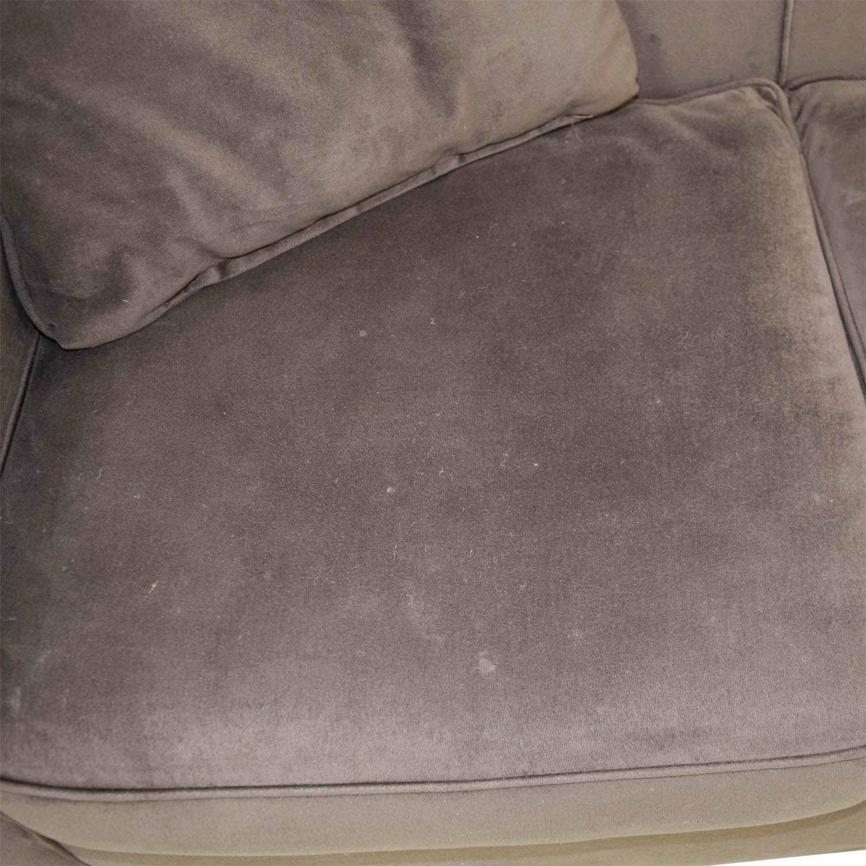 Brown Microfiber Three Cushion Sofa discount