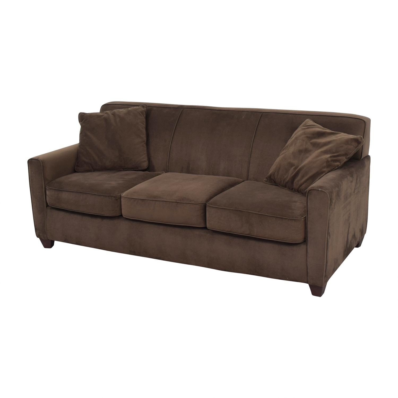Brown Microfiber Three Cushion Sofa second hand