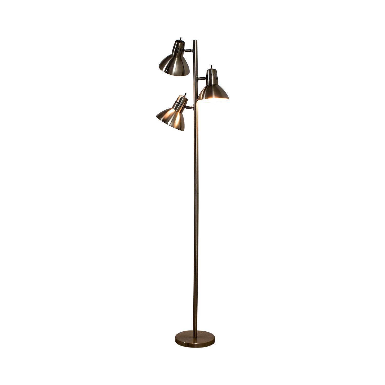 shop Metal Three Bulb Floor Lamp