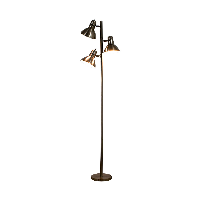 Metal Three Bulb Floor Lamp / Decor