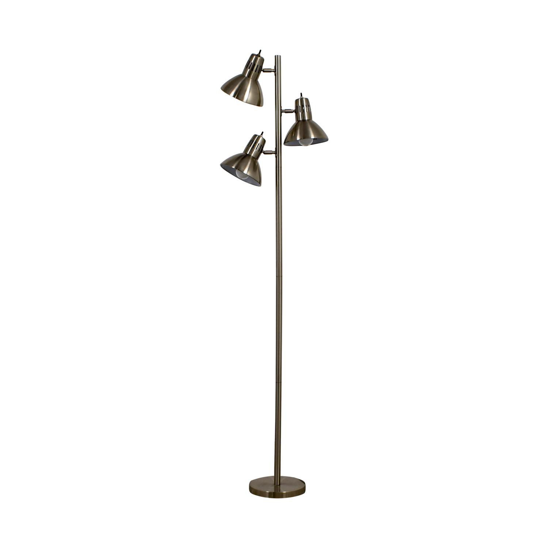 Metal Three Bulb Floor Lamp
