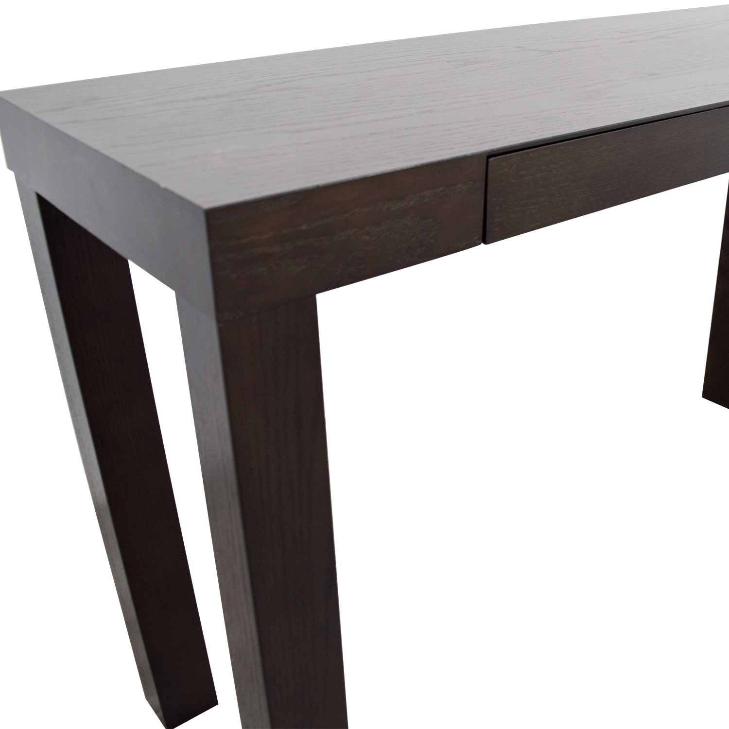 West Elm West Elm Mahogany Two-Drawer Console Table discount