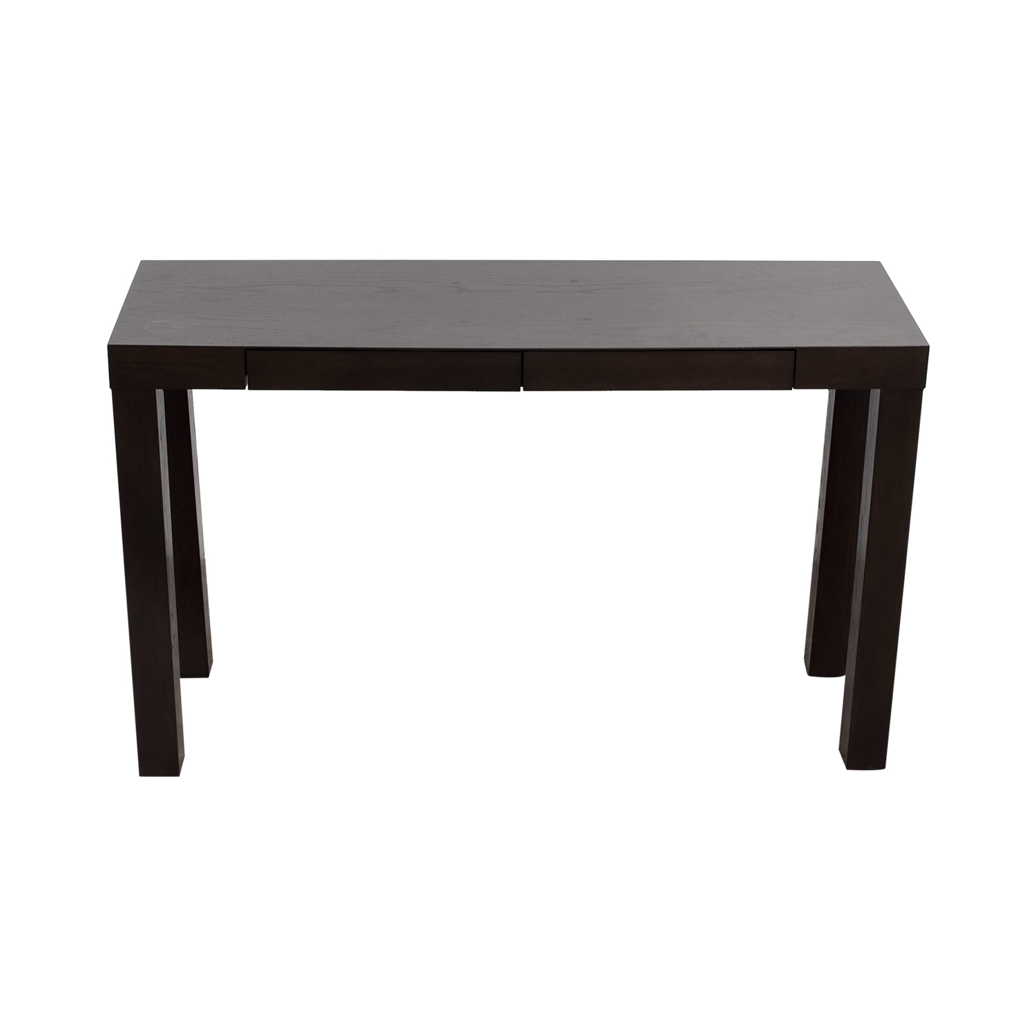 41% OFF West Elm West Elm Mahogany Two Drawer Console Table Tables