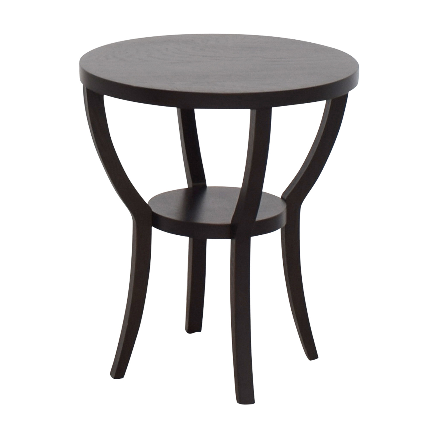 West Elm West Elm Mahogany Round Side Table Tables
