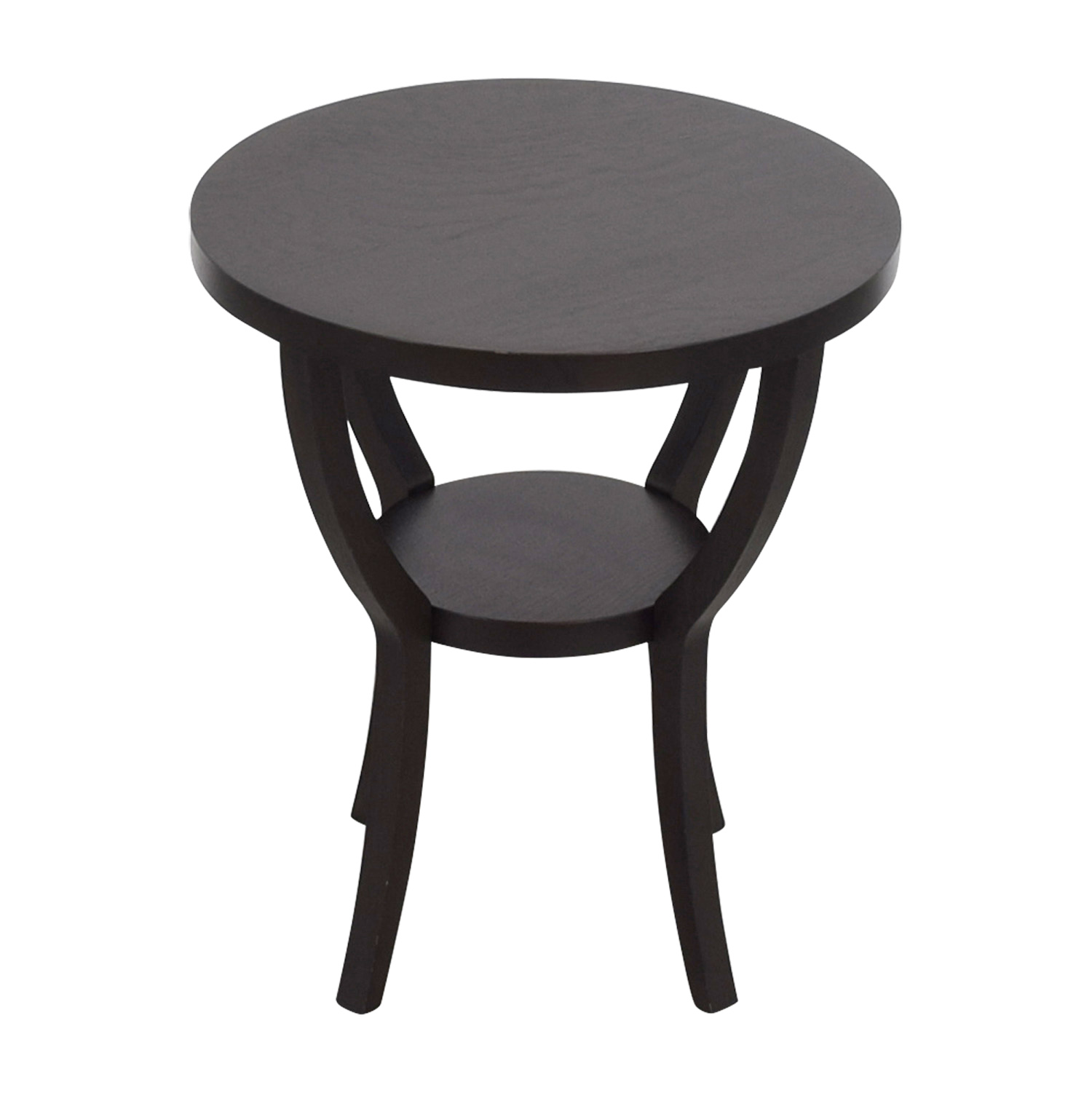 West Elm West Elm Mahogany Round Side Table dimensions