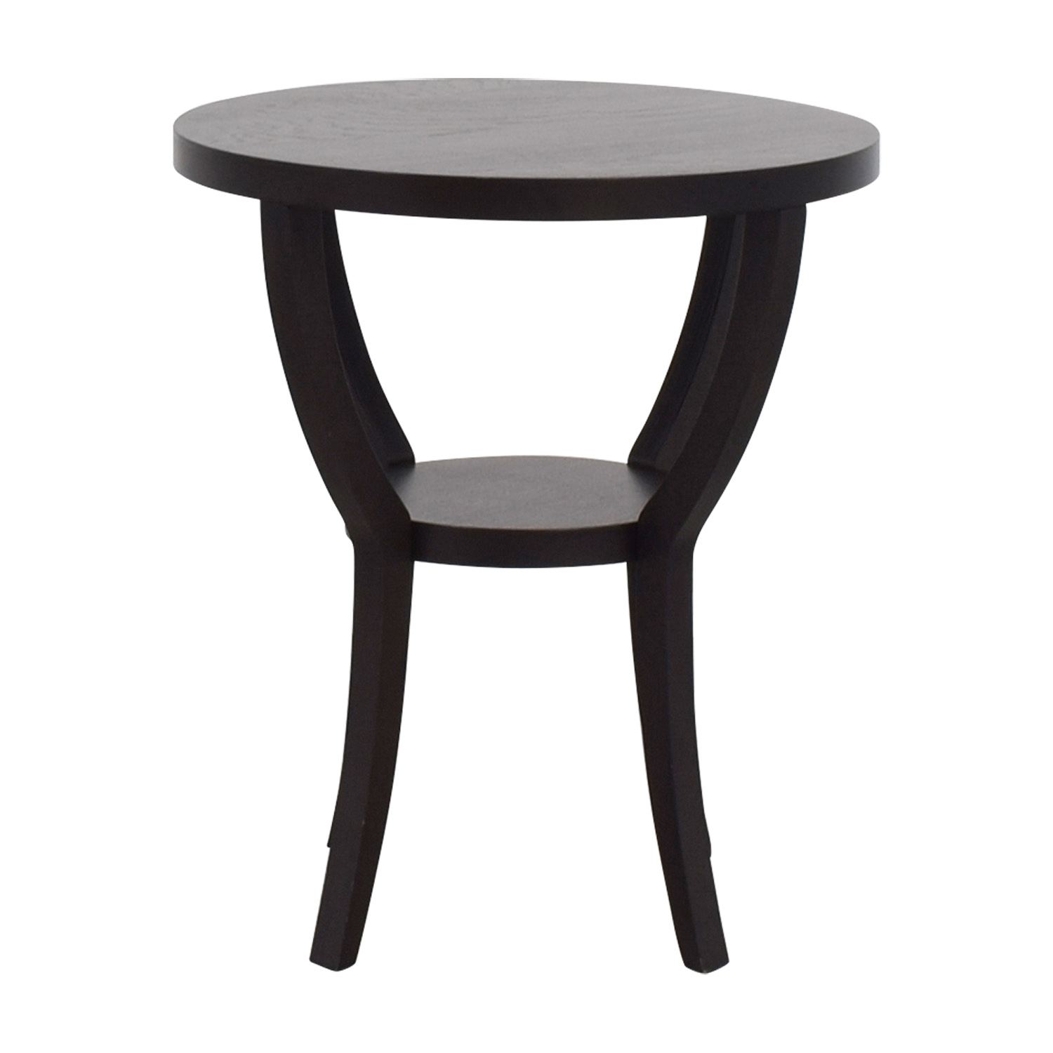 buy West Elm Mahogany Round Side Table West Elm End Tables