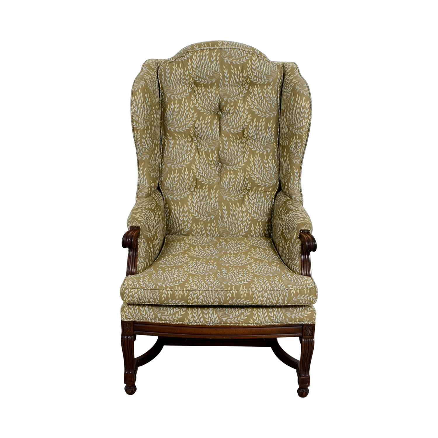 Hickory Hickory Olive Vintage Accent Chair second hand