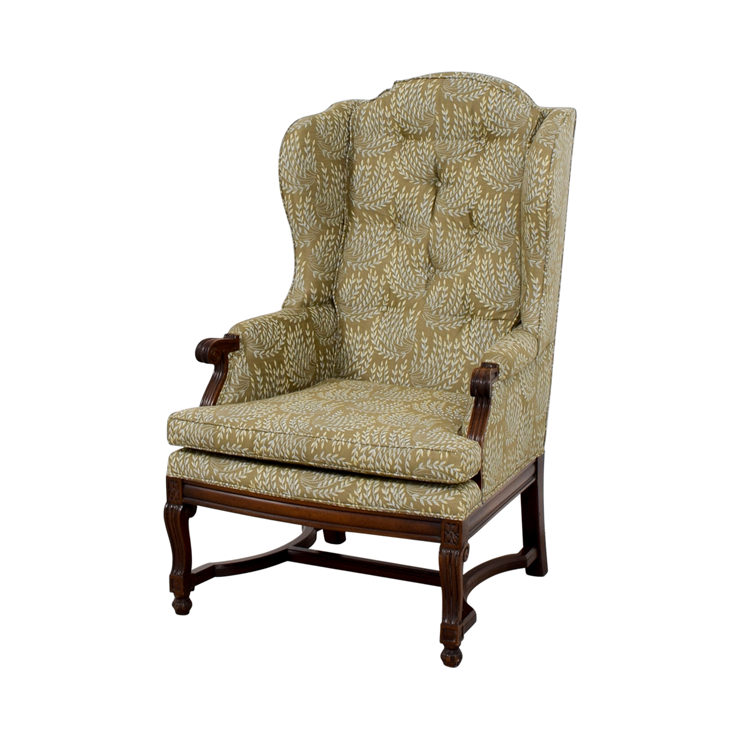 Hickory Hickory Olive Vintage Accent Chair used