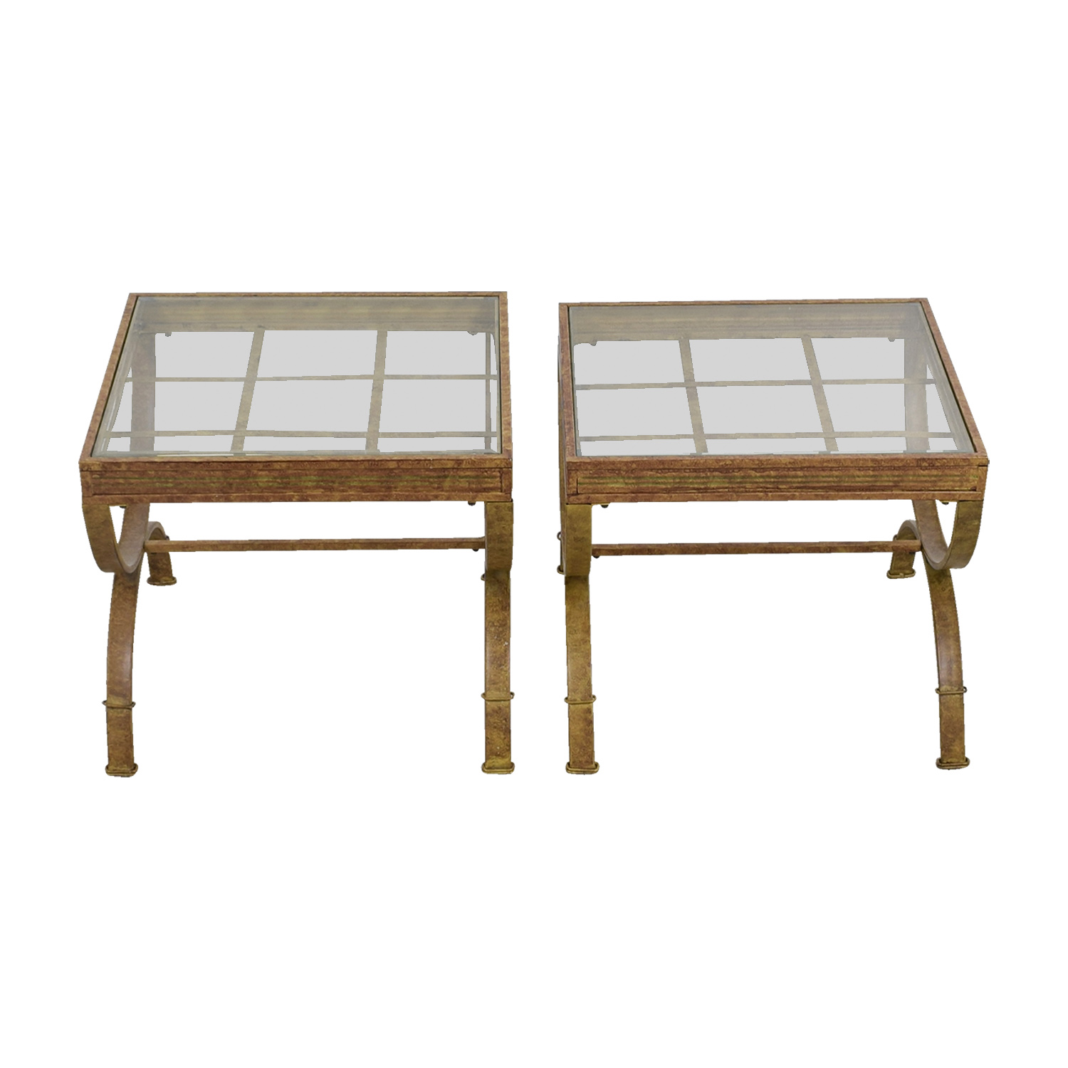 buy Bobs Furniture Brown and Glass End Tables Bobs Furniture End Tables