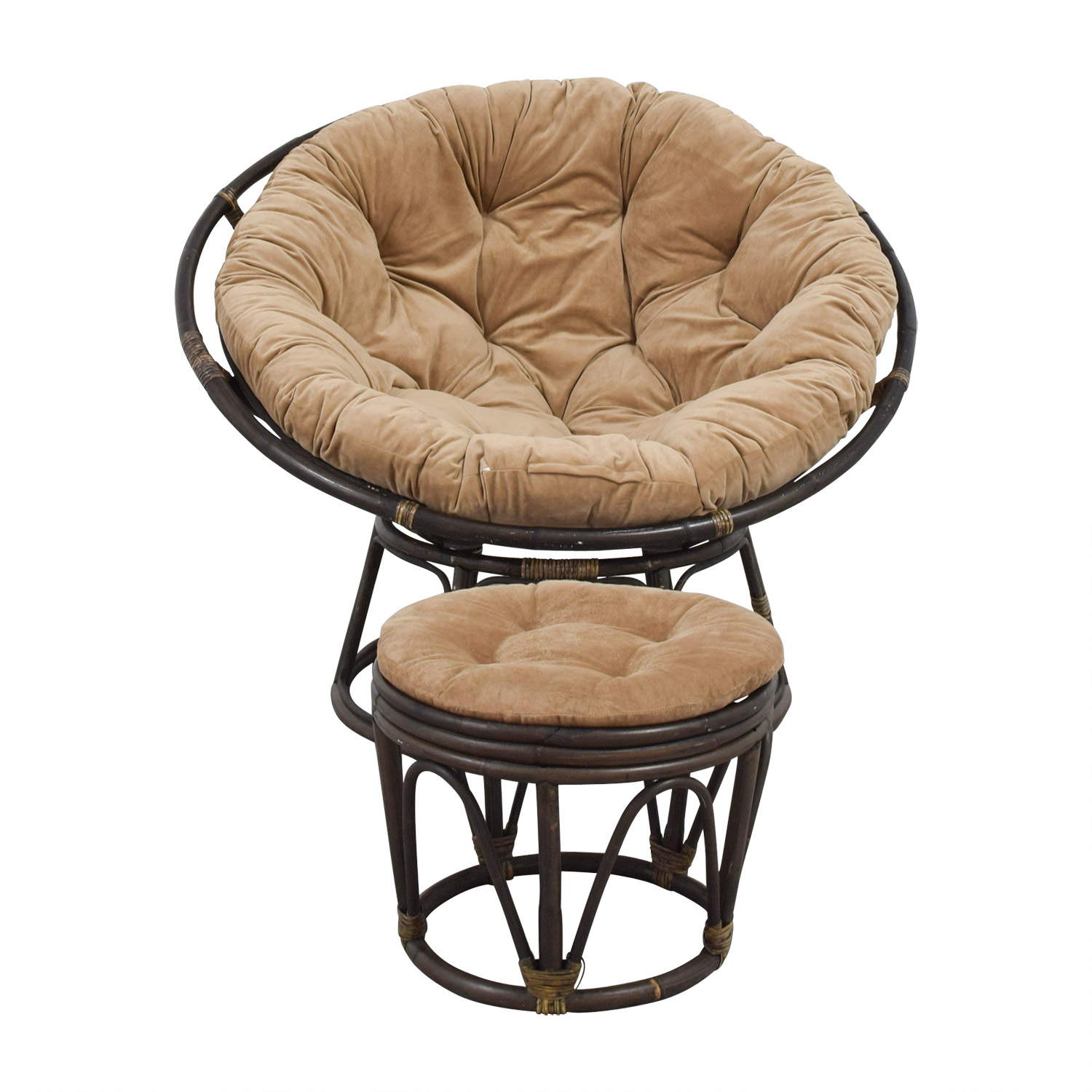 63 Off Pier 1 Pier 1 Imports Papasan Brown Lounge Chair And