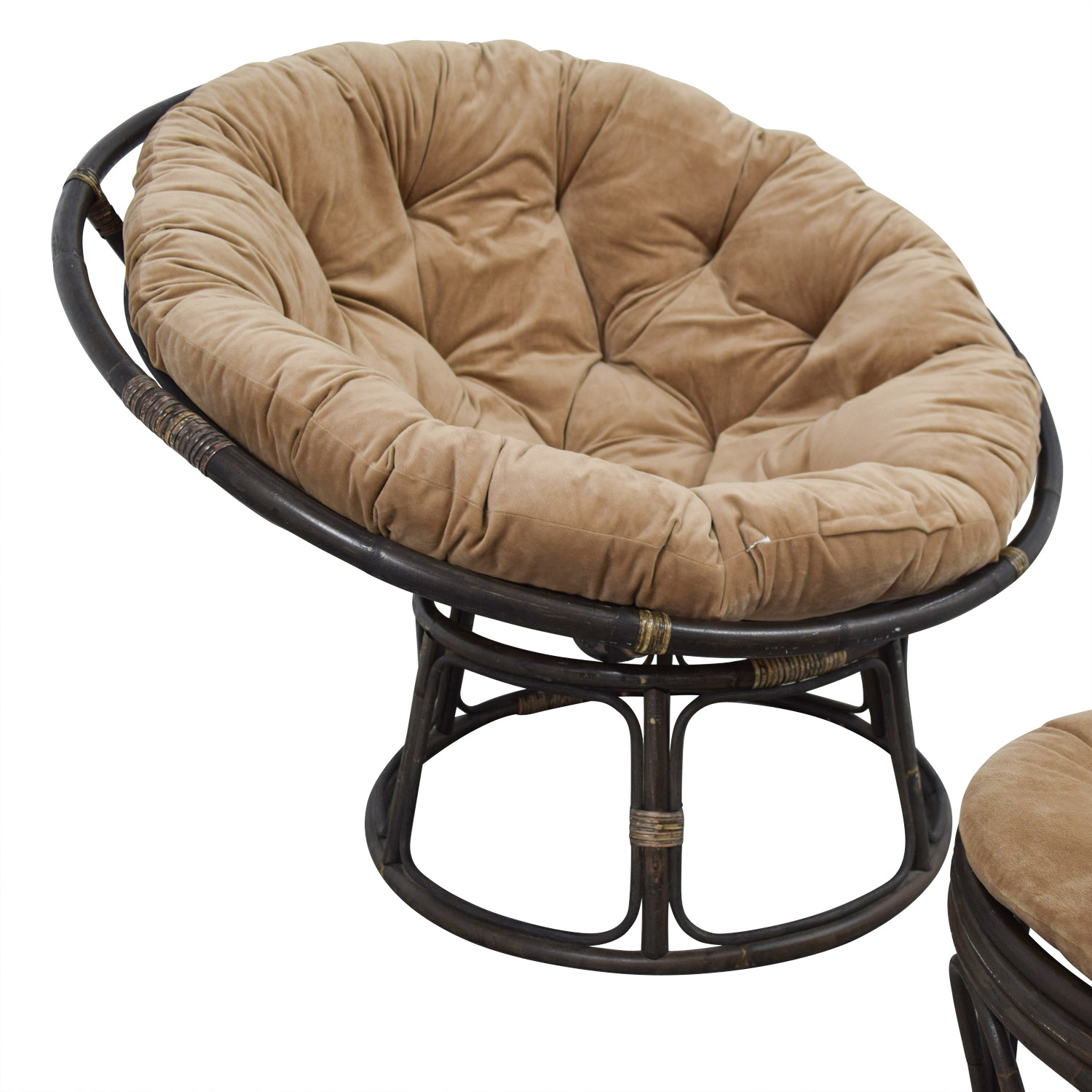 Admirable 63 Off Pier 1 Pier 1 Imports Papasan Brown Lounge Chair And Ottoman Chairs Andrewgaddart Wooden Chair Designs For Living Room Andrewgaddartcom