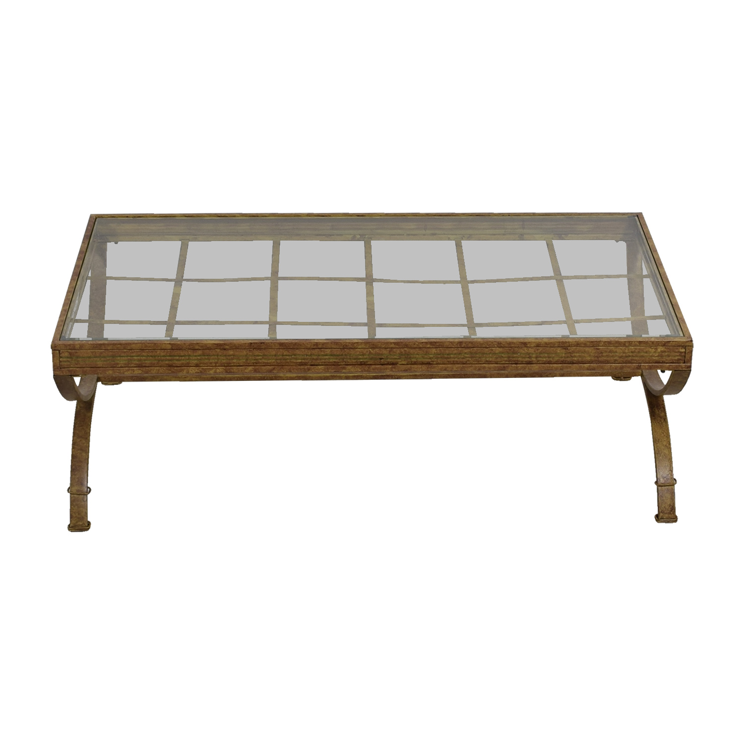 shop Bobs Furniture Rustic Glass Coffee Table Bobs Furniture