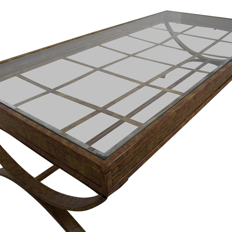 Bobs Furniture Bobs Furniture Rustic Glass Coffee Table