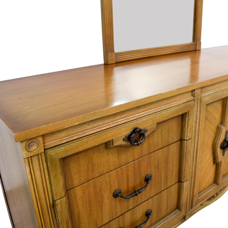Vintage Nine-Drawer Dresser with Mirror used