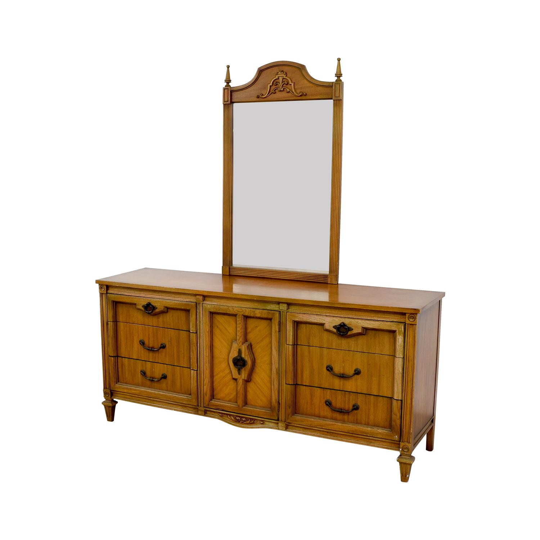 shop Vintage Nine-Drawer Dresser with Mirror online
