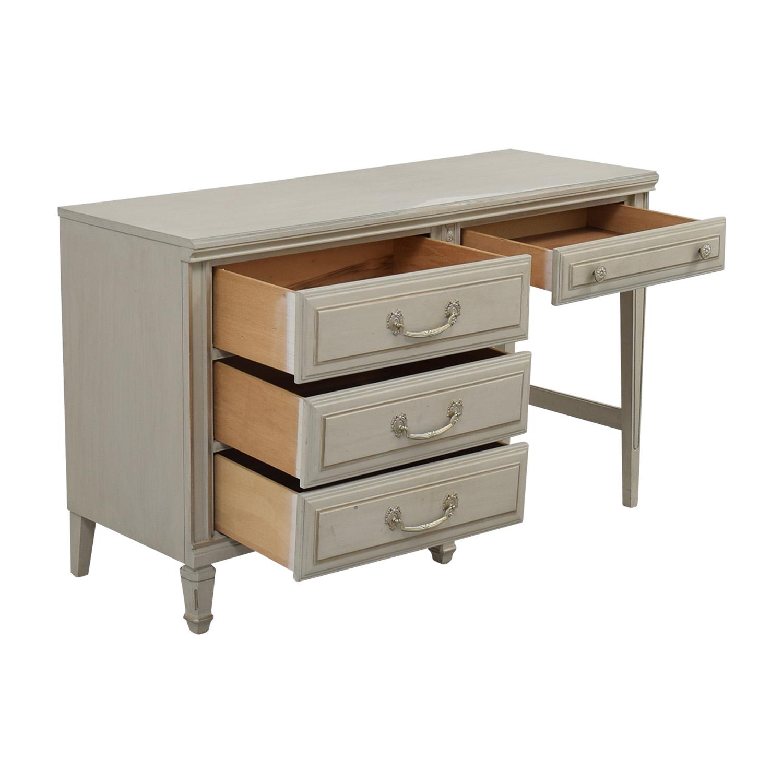 shop Vintage Painted Grey Four-Drawer Desk online