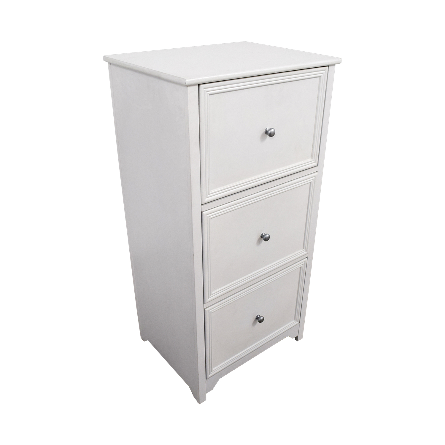 White Three-Drawer Filing Cabinet dimensions