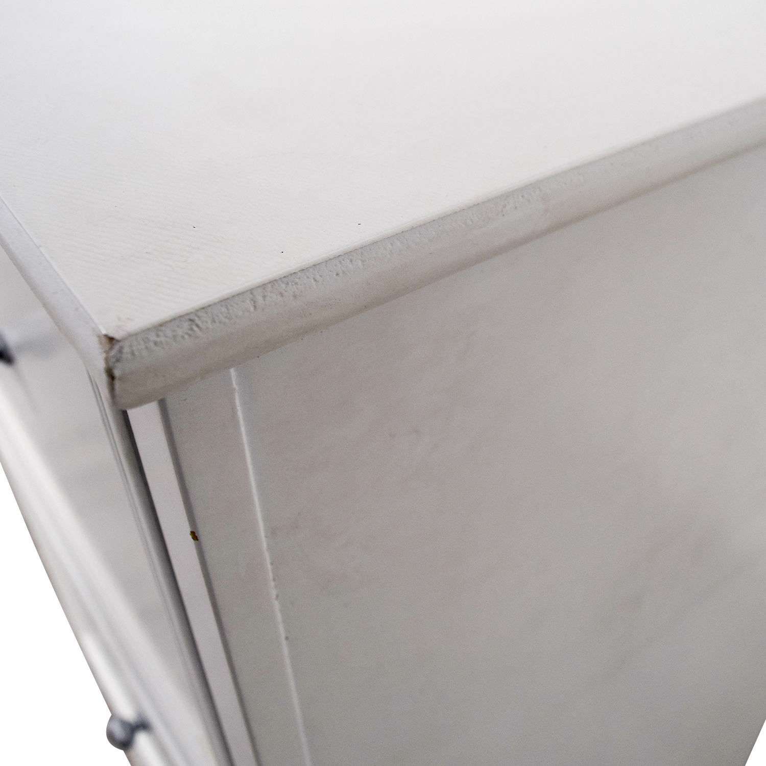 White Three-Drawer Filing Cabinet used