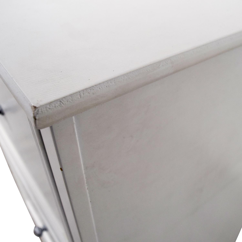 shop White Three-Drawer Filing Cabinet Storage