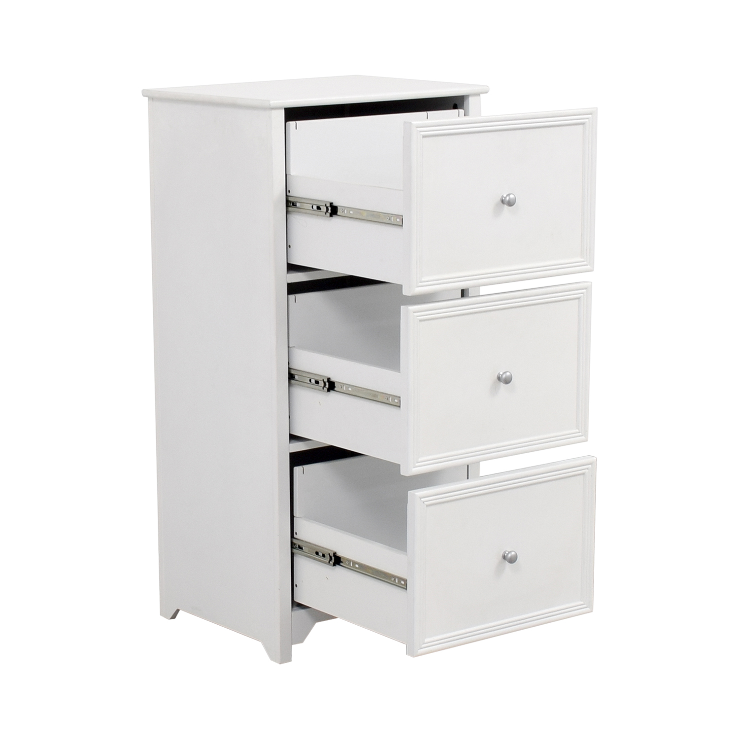 White Three-Drawer Filing Cabinet coupon