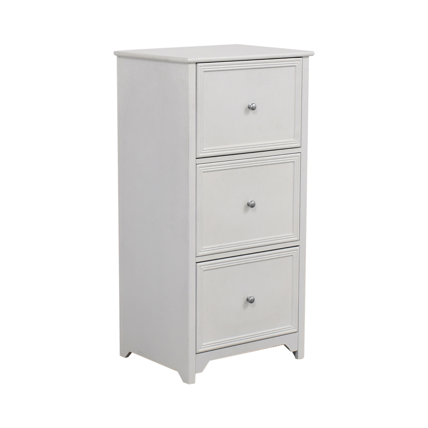 White Three-Drawer Filing Cabinet price
