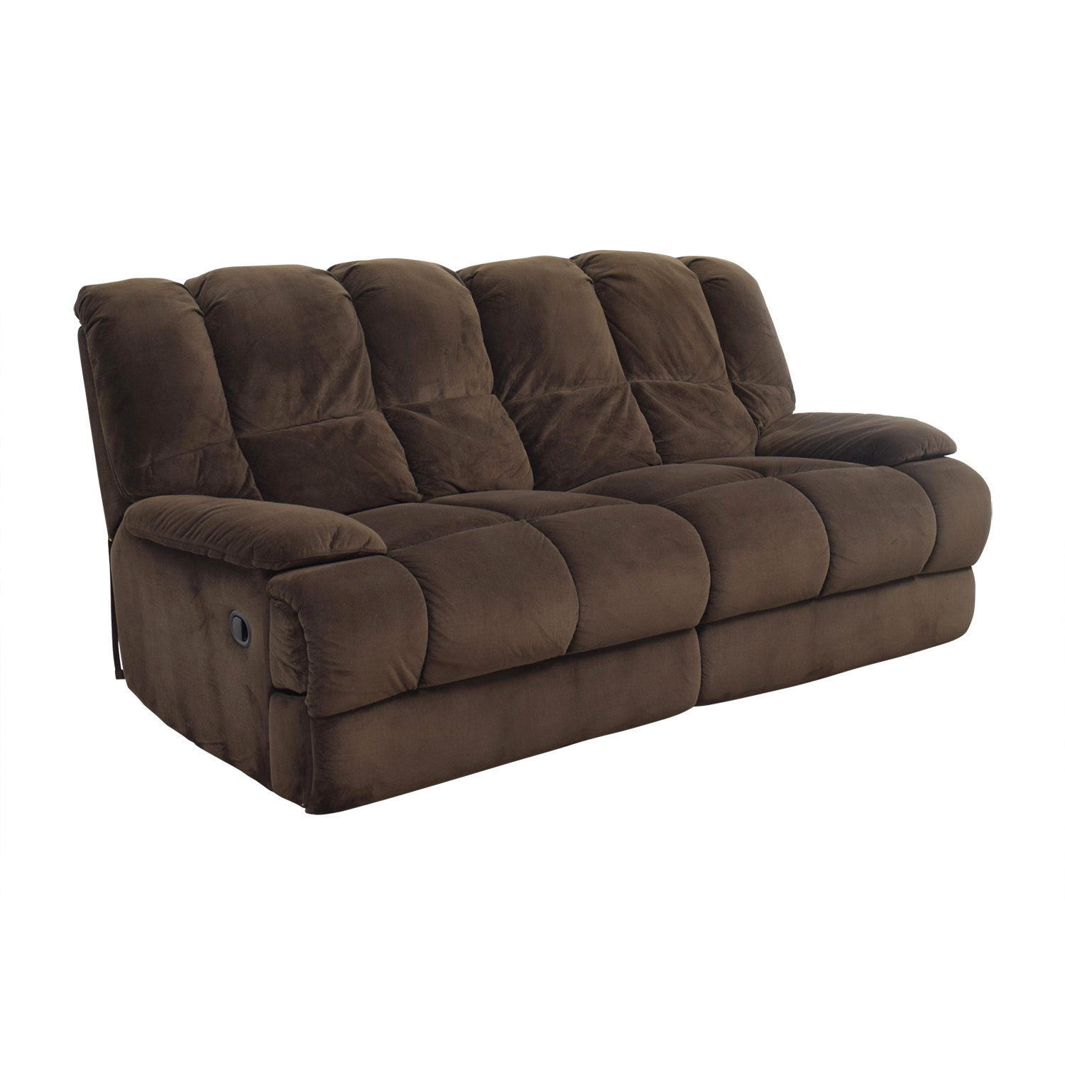 ... Shop American Signature Furniture Brown Recliner Sofa American  Signature Furniture Chairs ...