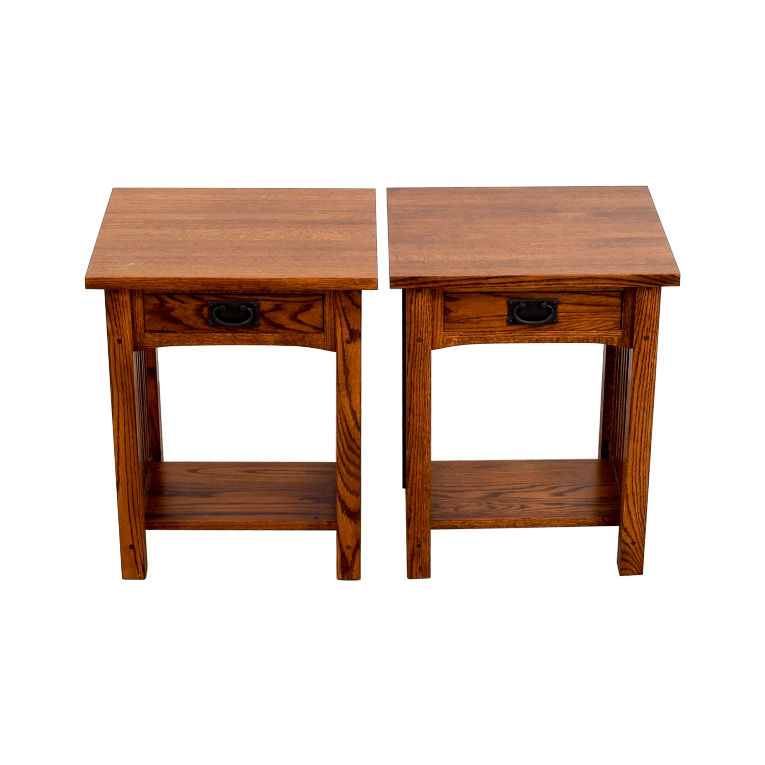 88% OFF   Michaels Mission Nightstand In Oak / Tables