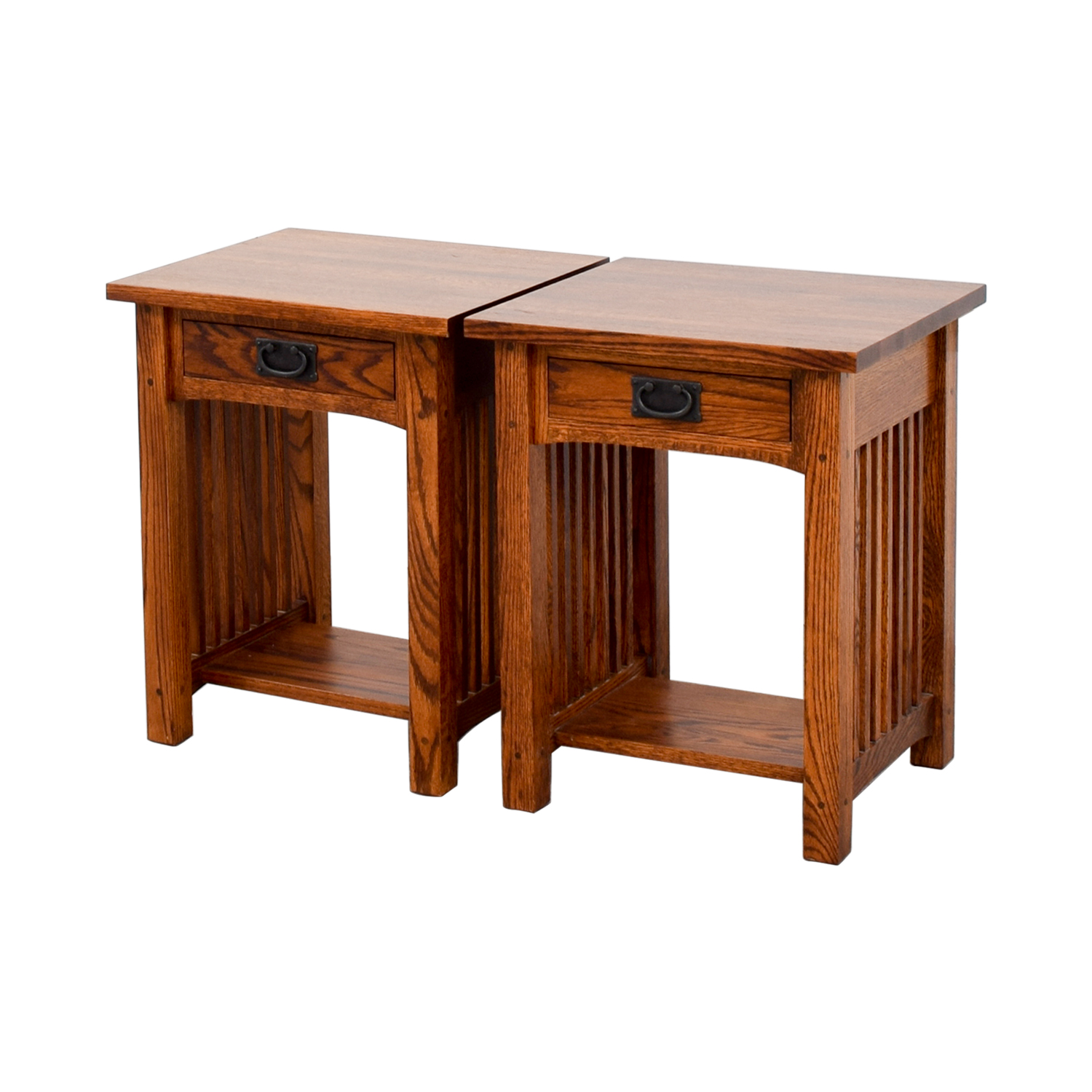 88 Off Michaels Mission Nightstand In Oak Tables