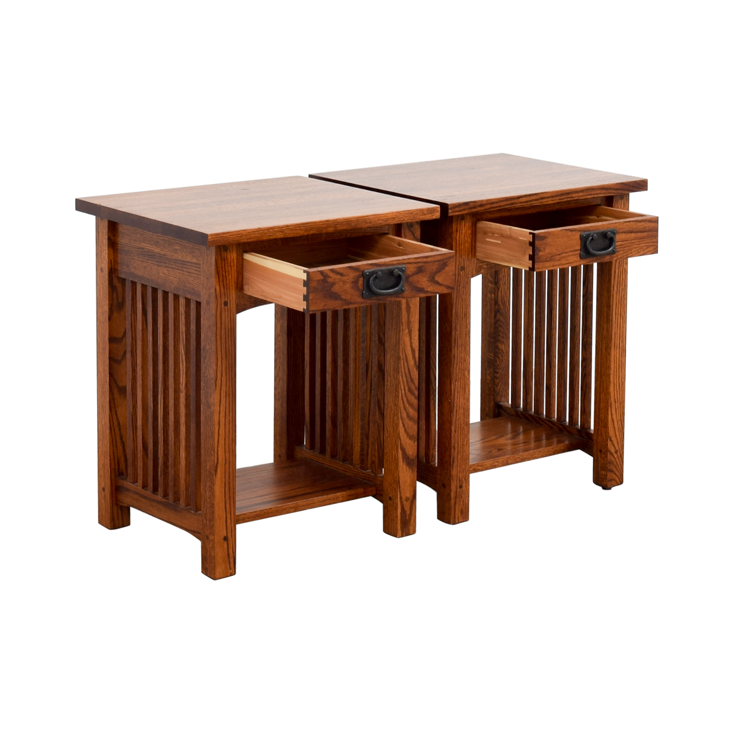 buy Michaels Mission Nightstand in Oak Michaels Mission End Tables