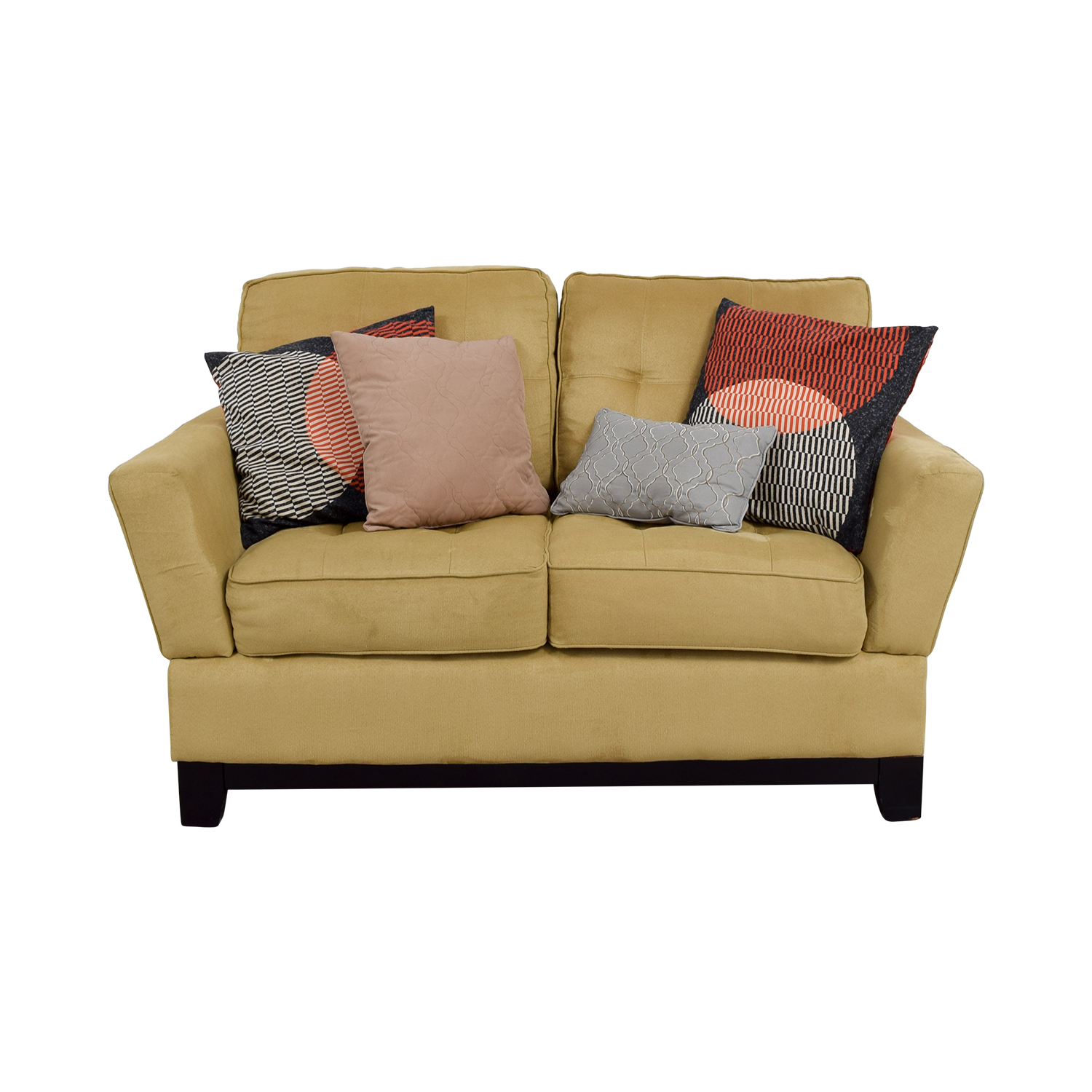 ashley recliner tan in dunwell sw loveseat console power driftwood furniture