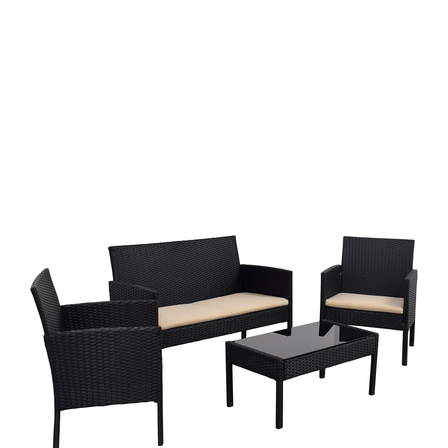 shop Radeway Black Outdoor Garden Patio Furniture Radeway Dining Sets