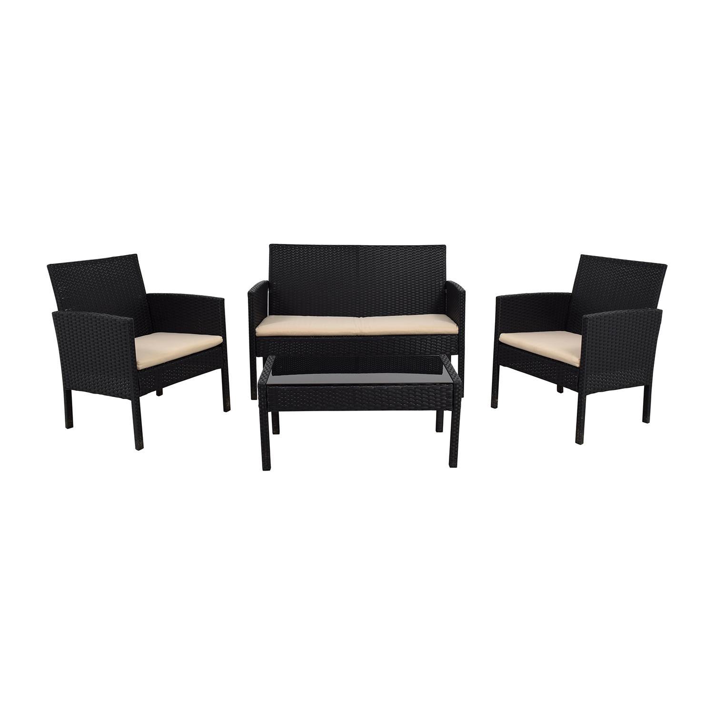 Fabulous 56 Off Radeway Radeway Black Outdoor Garden Patio Furniture Tables Download Free Architecture Designs Scobabritishbridgeorg