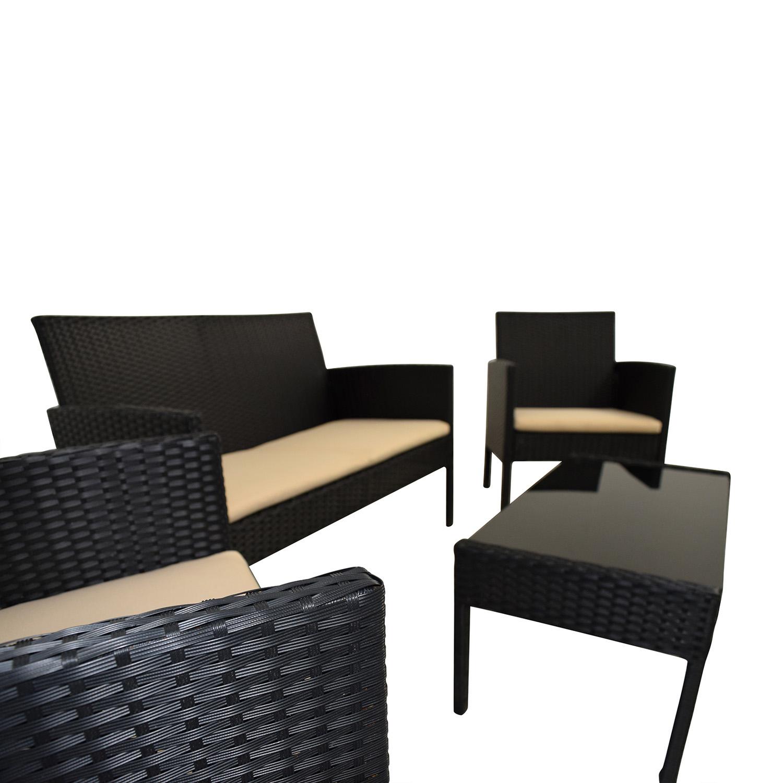 Radeway Radeway Black Outdoor Garden Patio Furniture black