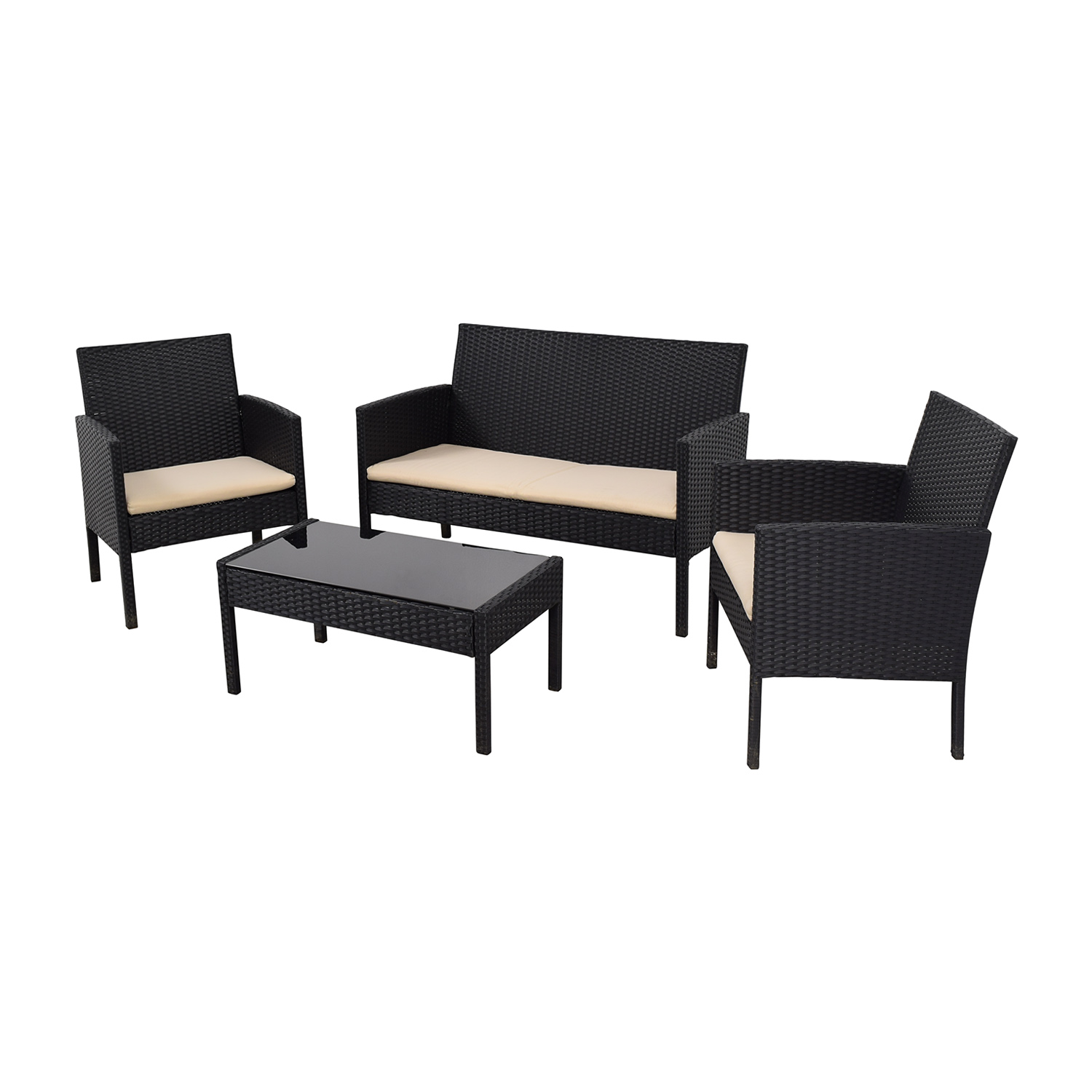 Radeway Radeway Black Outdoor Garden Patio Furniture discount