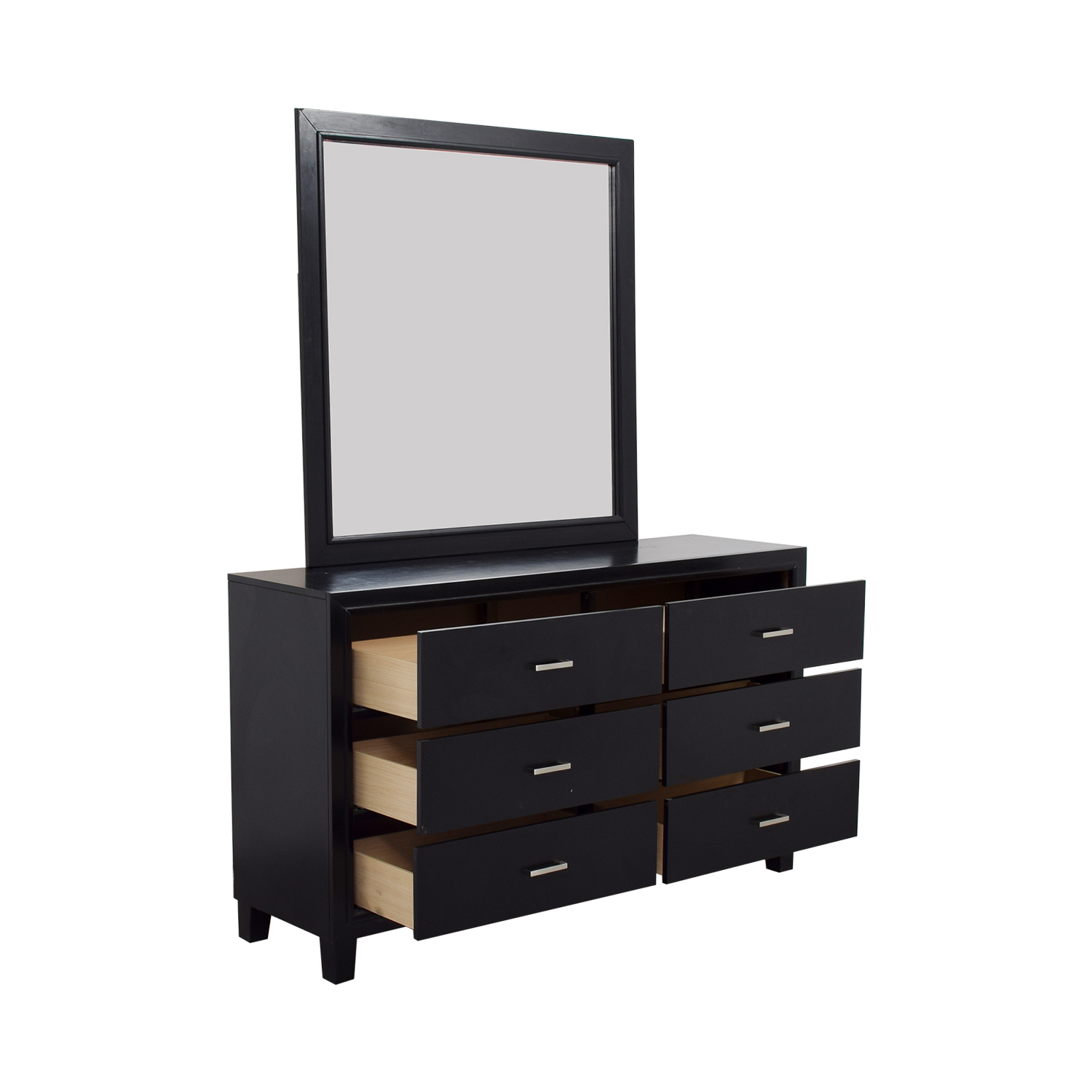 Six-Drawer Dresser with Mirror nyc