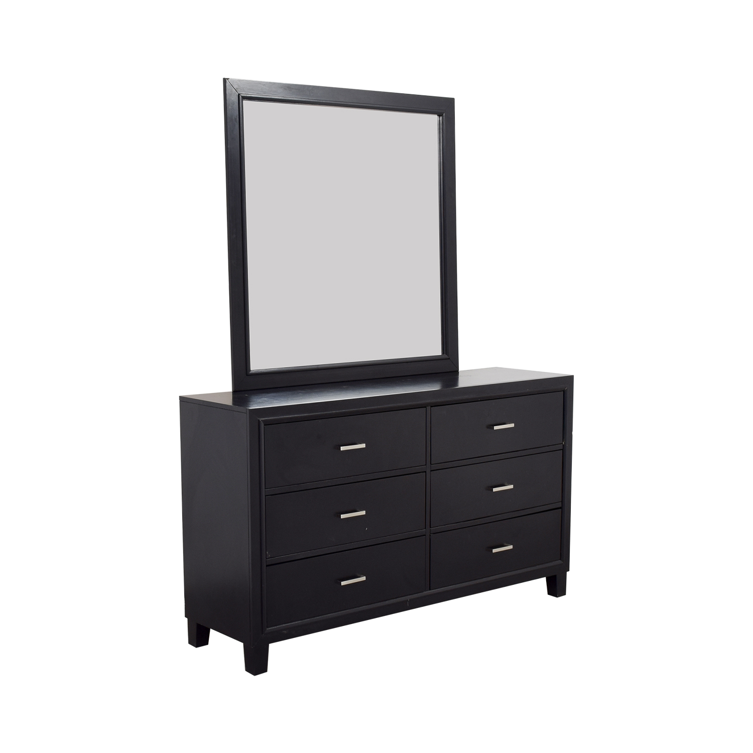 shop Six-Drawer Dresser with Mirror Dressers