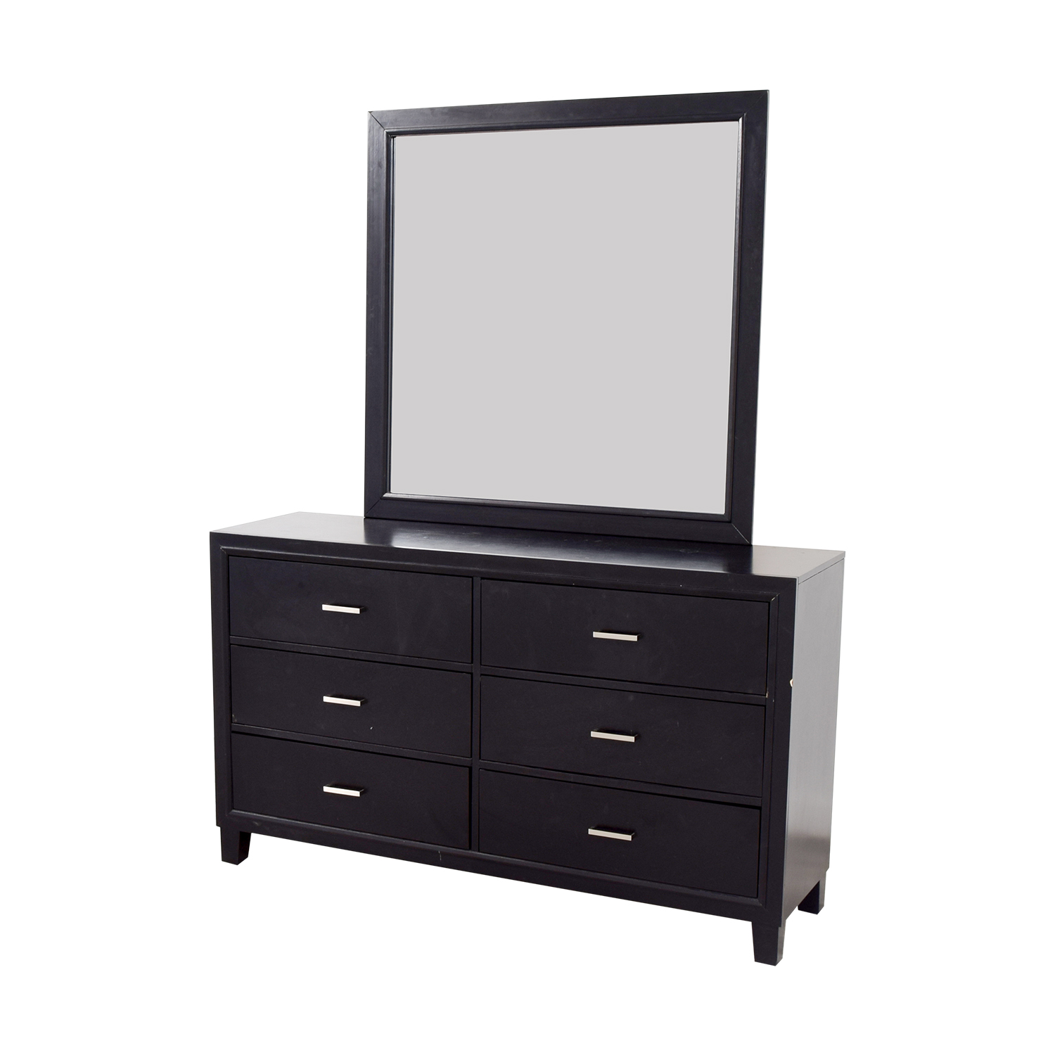 Six-Drawer Dresser with Mirror on sale