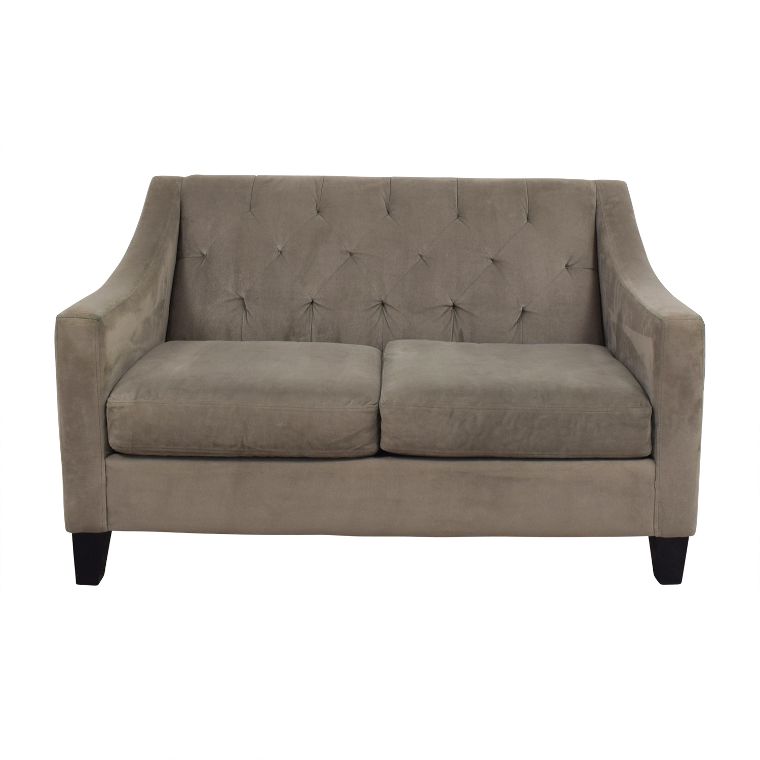 shop Better by Design Better by Design Grey Tufted Two-Cushion Sofa online