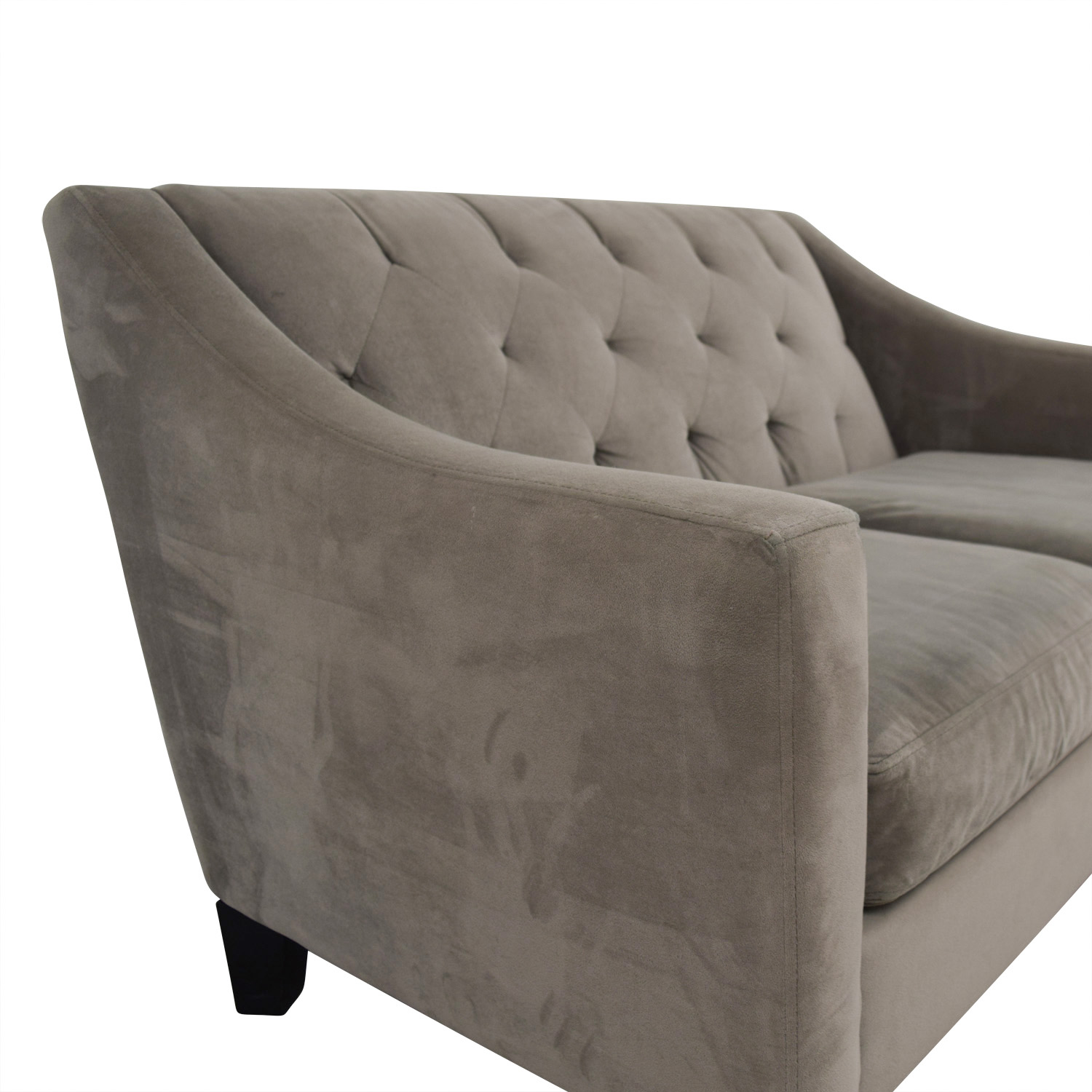 Better by Design Better by Design Grey Tufted Two-Cushion Sofa discount