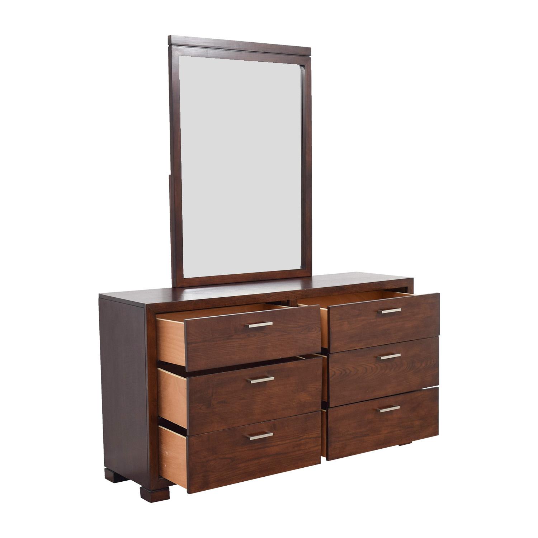 Macy's Macy's Six-Drawer Dresser with Mirror nyc