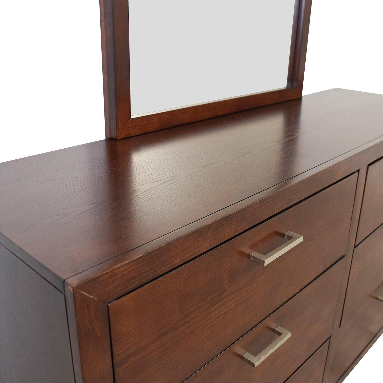 Macy's Macy's Six-Drawer Dresser with Mirror nj