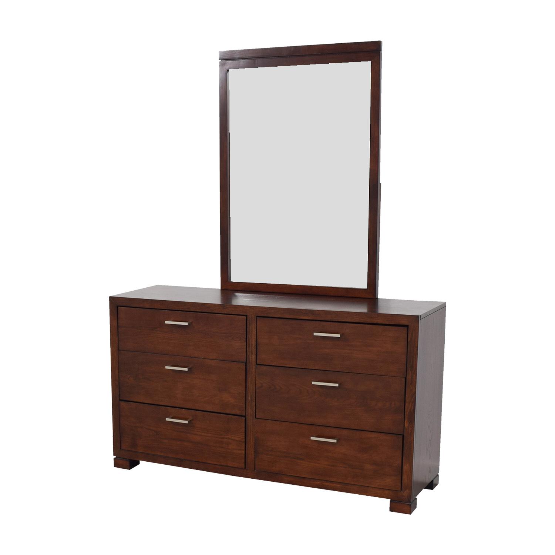 90 Off Macy S Macy S Six Drawer Dresser With Mirror Storage