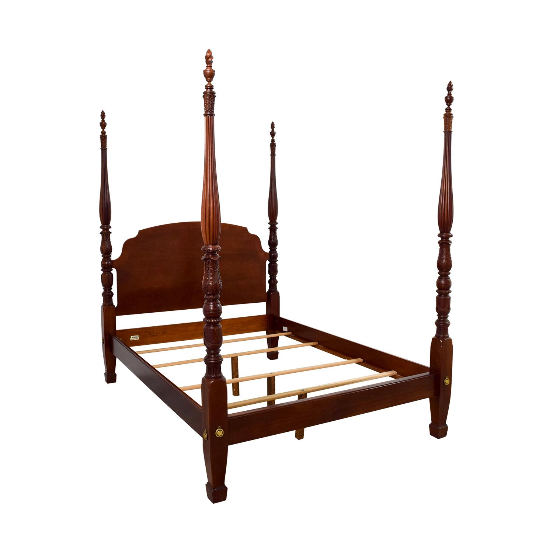 Ethan Allen Ethan Allen Cherry British Classics Queen Size Poster Bed dimensions