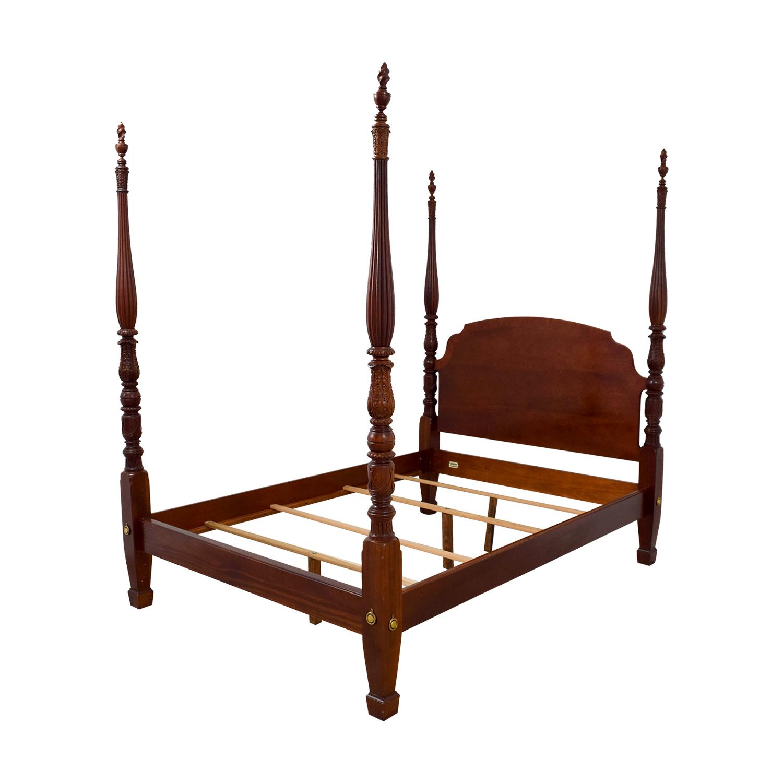 Ethan Allen Cherry British Classics Queen Size Poster Bed / Beds